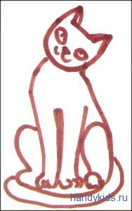 Аппликация  Кошка.