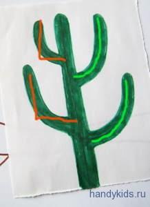 Как раскрасить кактус