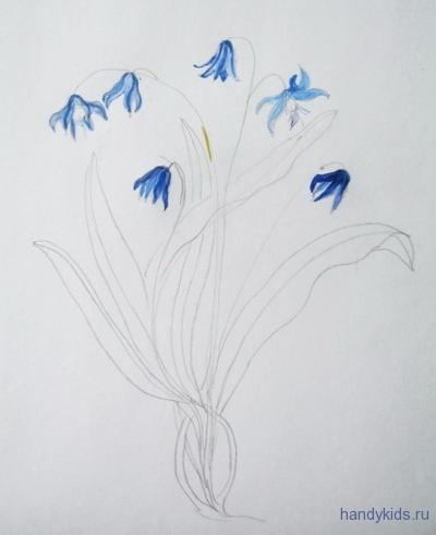 Рисуем весенние цветы