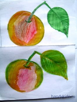 Раскрасим яблоки кругло