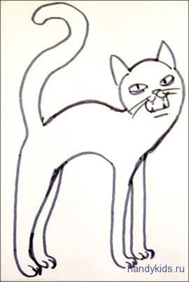 Раскраска Кот