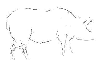 Рисунок свинья