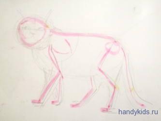 Как рисовать кошку