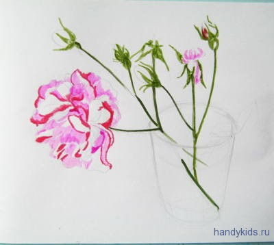 Как нарисовать красивую розу