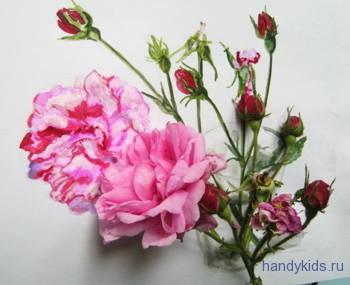 Нарисуем розу с натуры