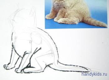 Как нарисовать котёнка поэтапно