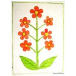 Раскраска-аппликация Цветы