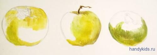 Рисуем яблоки поэтапно