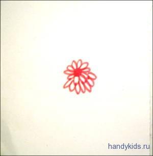 Раскраска-узор - Махровый Цветок