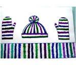 Нарисуем шарф, шапку и варежки