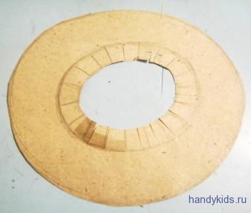 Поля для шляпы из бумаги