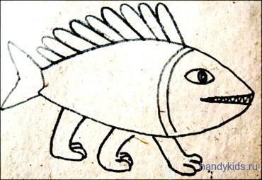 Раскраска невиданный зверь