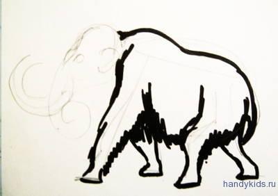 Рисуем мамонта