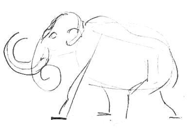 Рисуем мамонта -13