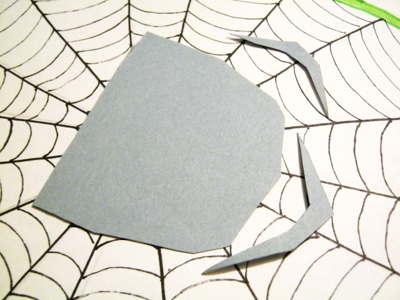 Вырезаем лапы для паука