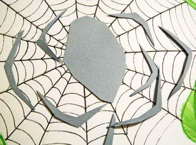 Лапы для паука из бумаги