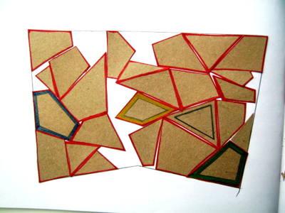 Выполнение аппликации из геометрических фигур