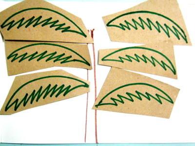 Работа с шаблоном пальмовый лист