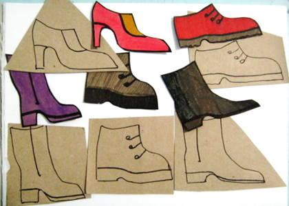 Работа с шаблонами Обувь.