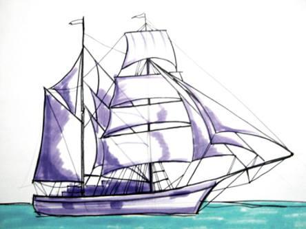 Рисунок парусника