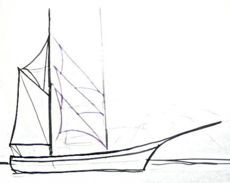 Рисунок паруса