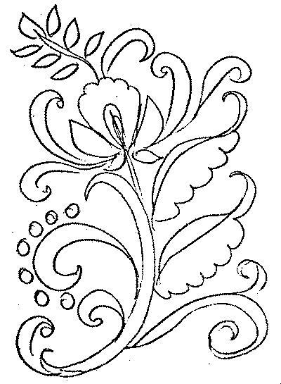 Раскраска хохломские узоры