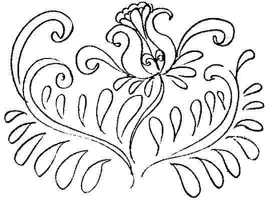 Раскраски на тему Хохлома
