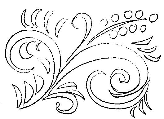 Хохлома раскраска для детей
