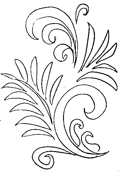 Хохломская роспись -раскраска
