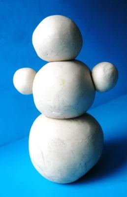 Лепка снеговик