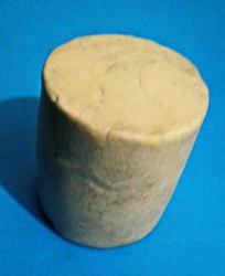 Цилиндр из пластилина.
