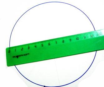 Измерим диаметр круга