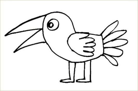 Раскраска сказочная птица-1