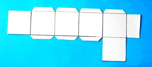 Выкройка кубика из бумаги.
