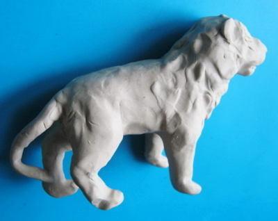 Лев из пластилина -7