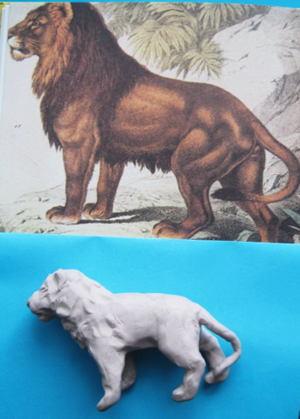 Лев из пластилина -3