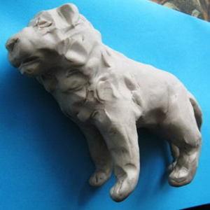 Голова льва из пластилина-0570