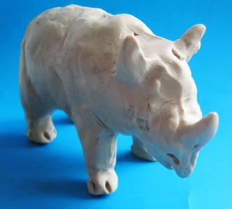 Урок лепки :носорог из пластилина.