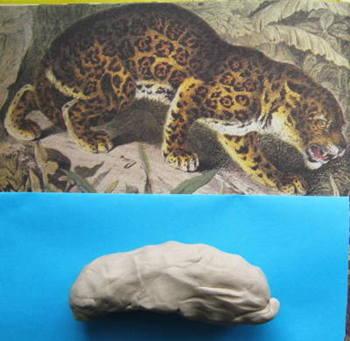 Лепка леопард.