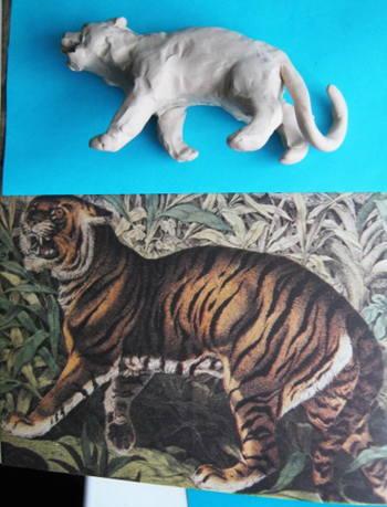 Лепка Тигр