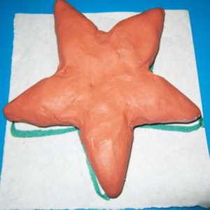Звезда из пластилина- 0272