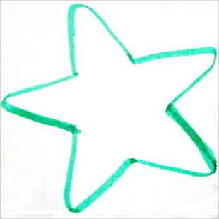 Шаблон звезды -пять лучей.