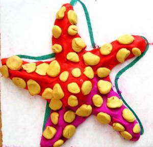 Морская звезда из пластилина -19