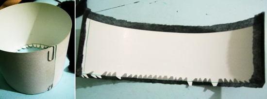 Изготовим тулью для цилиндра из бумаги