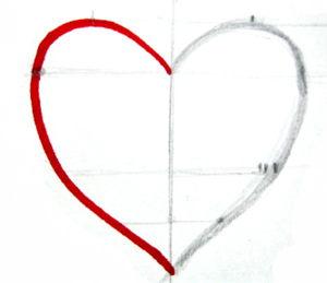 Рисунок сердечко