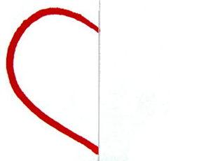 Изготовим шаблон сердечко