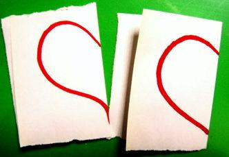 Как сделать трафарет сердечко