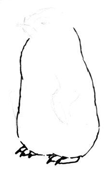 Рисуем птенца пингвина
