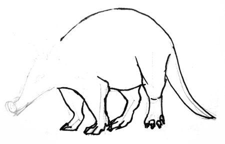 Как нарисовать трубкозуба.