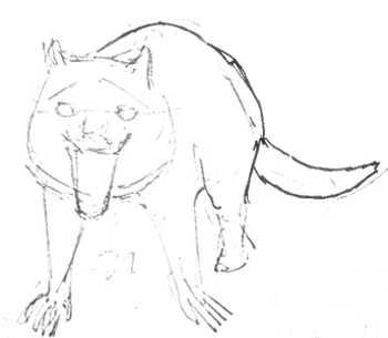 Рисуем тасманского дьявола поэтапно